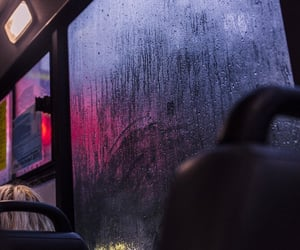 bus, rain, and aesthetic image