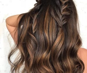 hair, braids, and brown image
