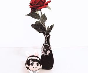 aesthetic, rose, and 白と黒のアリス image