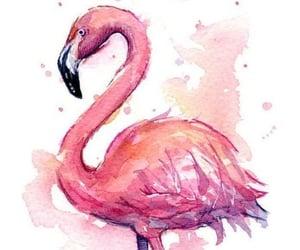 flamingo, wallpaper, and art image