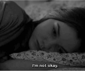 sad, black and white, and depressed image