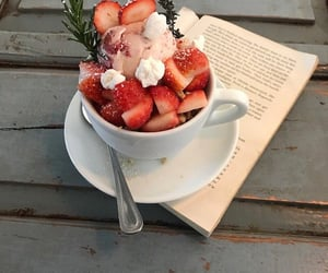 book and strawberry image