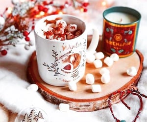 cozy, holiday, and marshmallow image