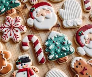 baking, christmas, and christmas cookies image