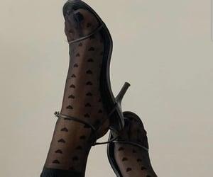 black, black heels, and shoes image