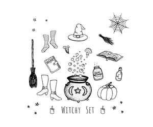 cauldron, crystals, and nature image