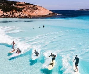 beach, summer, and surf image