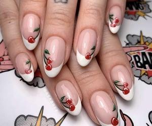 cherry, manicure, and nail art image