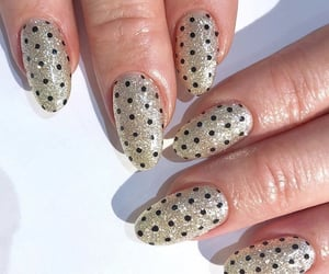 dots, nails, and acrylic nails image
