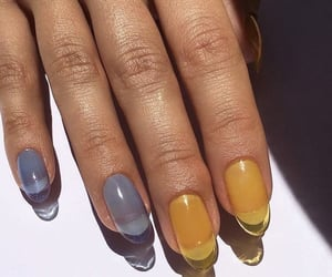 nails, yellow, and blue image