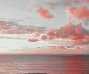 aesthetic, beach, and cloud image