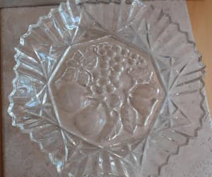 etsy, vintage plate, and clear glass image