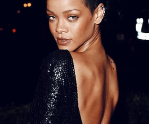 black, rihanna, and riri image