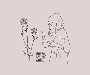 coffe, quotes, and flowers image