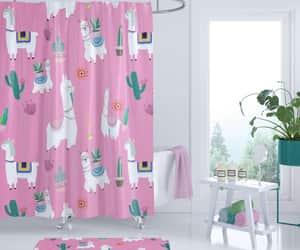 bathroom decor, bathroom curtain, and etsy image