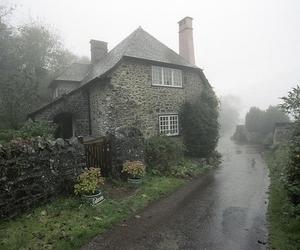 house, fog, and rain image
