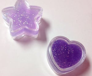 purple, glitter, and aesthetic image