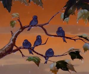 birds, disney, and orange image