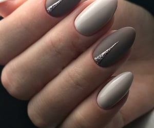 beige, brown, and nails image