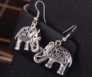 earrings, ggbmt, and elephant image