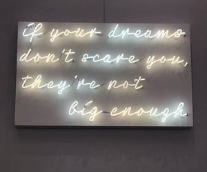 dreams, neon lights, and scary image