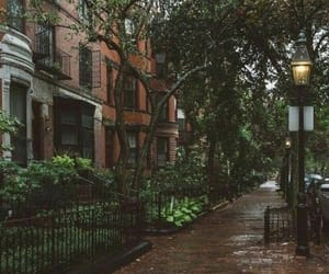 rain, autumn, and boston image