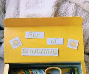 yellow, box, and aesthetic image