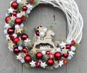christmas decor, christmas inspirations, and door decor image