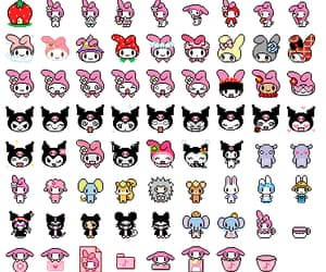 my melody, pixel, and sanrio image