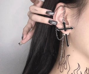 cross, piercing, and aesthetic image