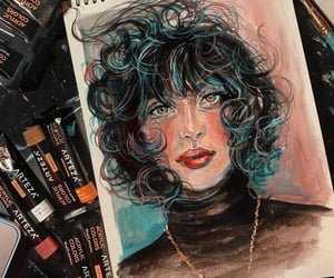 artistic, artsy, and curls image