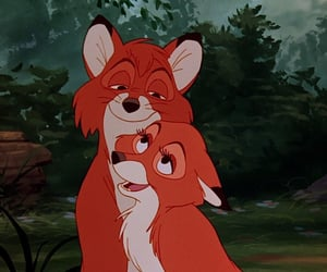 disney, couple, and fox and the hound image