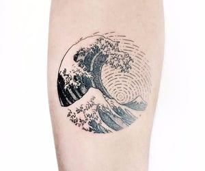 tattoo and wave tattoo image
