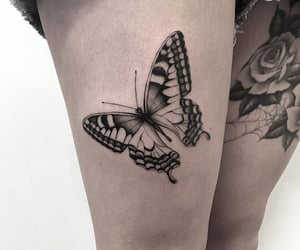 tattoo and butterfly tattoo image