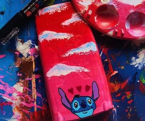 calculator, painting, and stitch image