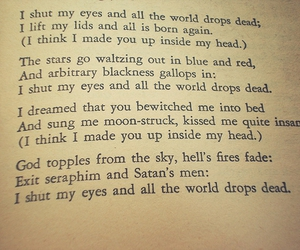 sylvia plath, poem, and mad girl's love song image