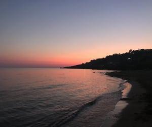 beach, cielo, and sky image