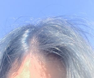 blue, sky, and hair image