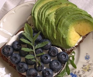 avocado, foodie, and berries image