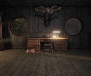 antiques, typewriter, and brown image