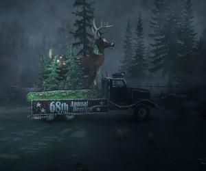 Darkness, eerie, and deer image