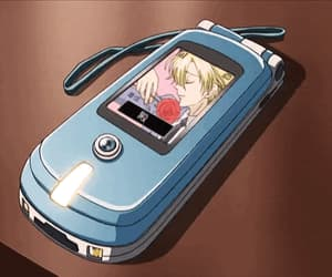 anime, mobile, and blue image