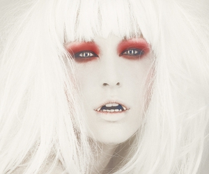 make up, tjejer, and red image