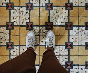 aesthetic, yellow, and floor image