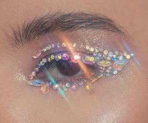 eye, eyeliner, and eyeshadow image