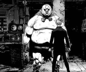 black & white, manga, and manga cap image
