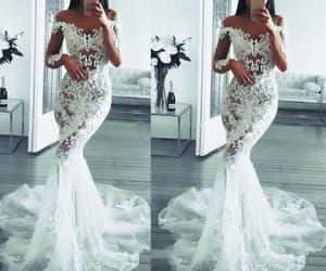 wedding gowns, bridal dress, and mermaid wedding dress image