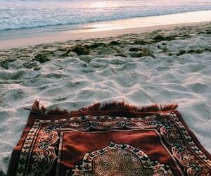 beach, sea, and islam image