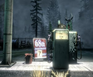 countdown, eerie, and gas station image
