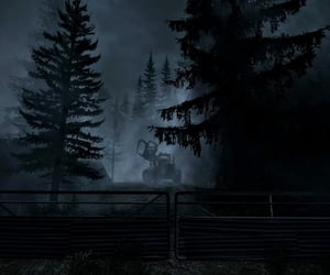 eerie, alan wake, and forest image